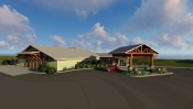 Chequamegon Clinic Rendering, Courtesy: Rebbeca Lewis, DSGW Architects
